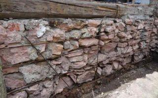Бутовый фундамент — ремонт в доме