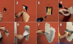 Как заделать дыру в стене — ремонт в доме