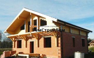 Дом из бруса и кирпича — ремонт в доме