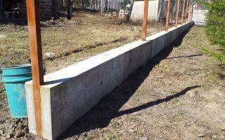 Ленточный фундамент для забора – ремонт в доме