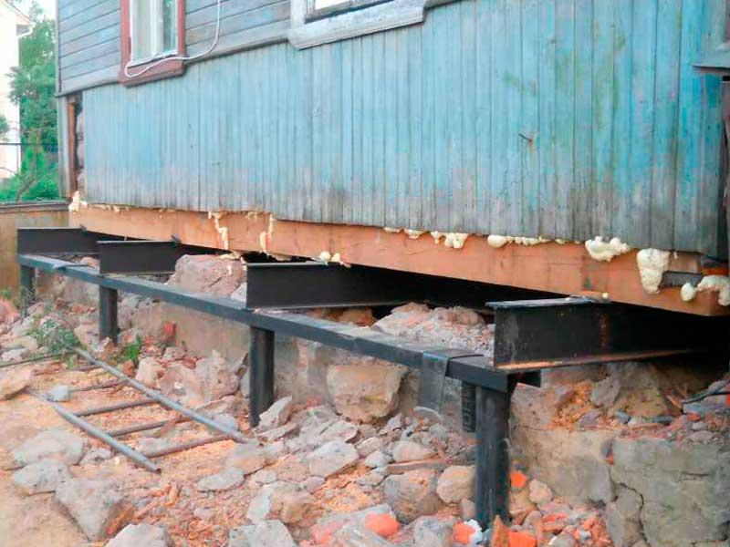 усиление деревянного фундамента