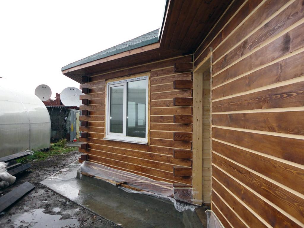 сайдинг для деревянного дома из бруса